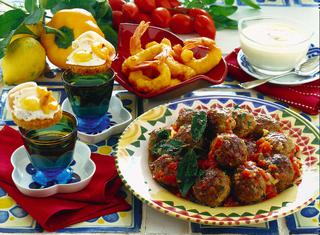 Gamberoni fritti con salsa all'aglio