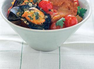 Ricetta Pappa al pomodoro con cozze gratinate