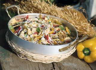 Ricetta Pasta, verdure e menta
