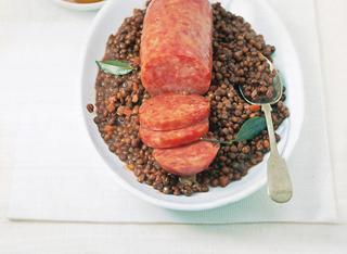 Cotechino con lenticchie stufate