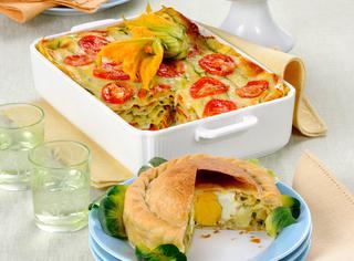 Lasagne con zucchine e crescenza