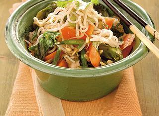 Ricetta Noodles con verdure e zenzero