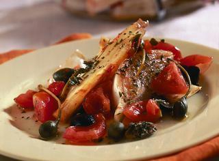Finocchi al forno con salsa crudaiola