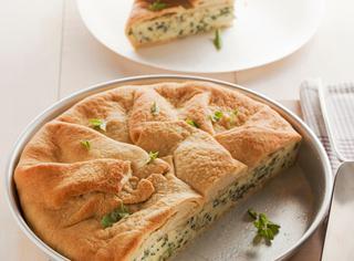 Ricetta Torta di pasta di pane con erbe di primavera