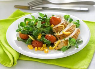 Ricetta Insalata di pollo al limone e basilico