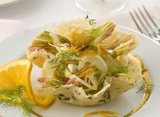 Ricetta Cestini di parmigiano con bottarga