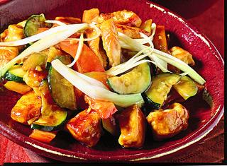 Pollo saltato in salsa di soia