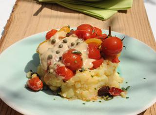 Insalata di patate con peperoni
