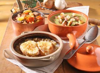Zuppa di piselli secchi con la pancetta