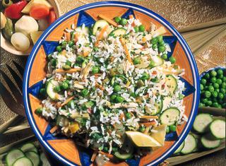Ricetta Insalata di riso con pollo e verdure in agrodolce