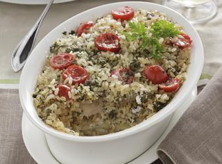 Ricetta Tiella di riso, patate e cardoncelli