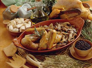 Gallina al coccio tradizionale