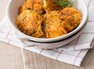 Rosti di carote e patate