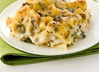 Ricetta Pasta al gratin con funghi e mozzarella