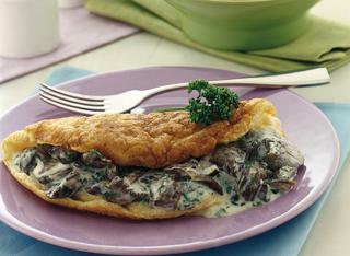 Omelette soffiata ai funghi chiodini