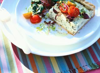 Torta di formaggio ed erbe