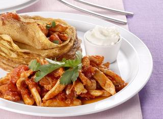 Ricetta Fajitas di pollo al chili con panna acida