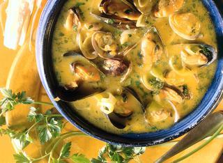 Ricetta Zuppa piccante di cozze e vongole