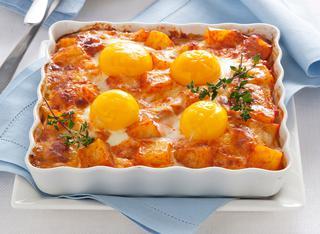 Ricetta Teglia di uova e patate