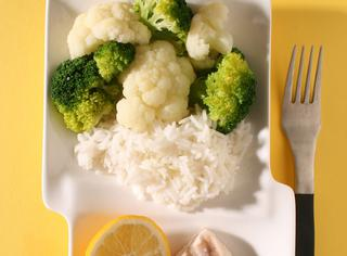 Riso con verdure e pesce