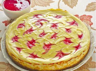Cheese cake variegato alla ricotta