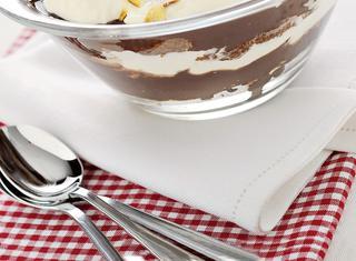 Panettone in coppa al cioccolato