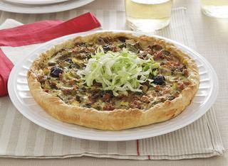 Ricetta Torta salata con scarola e olive