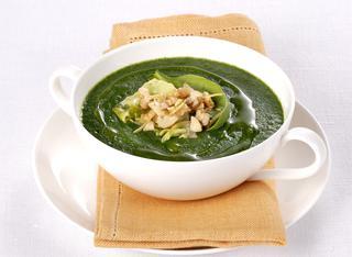 Crema di erbette, spinaci e lattuga