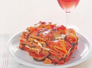 Ricetta Parmigiana di pasta e melanzane grigliate