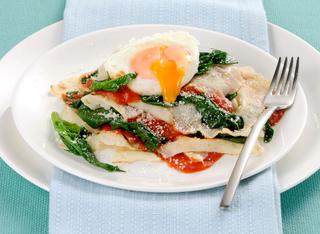 Lasagne di pane carasau e uova