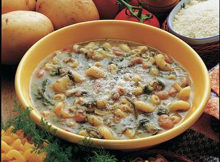 Minestra di fagioli finocchi e patate