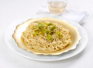 Ricetta Spaghettini alla crema di porri