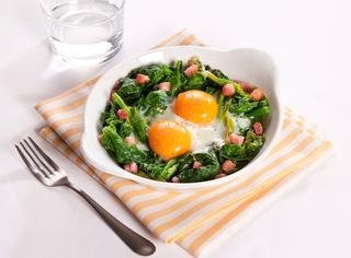Ricetta Uova con spinaci e pancetta