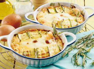 Tortini di zucchine e gamberetti