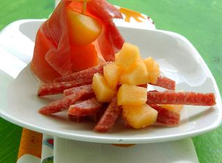 Prosciutto e melone per bambini