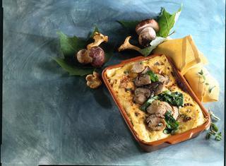 Lasagne al forno con porcini e spinaci