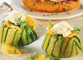 Sformatini di zucchine e squaquerone