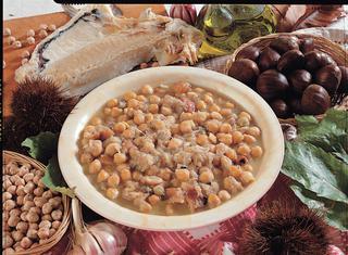 Ricetta Minestra di ceci castagne e baccalà