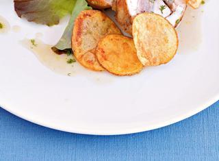 Lombata di coniglio in porchetta con patate