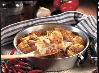 Tortiera di patate e baccalà