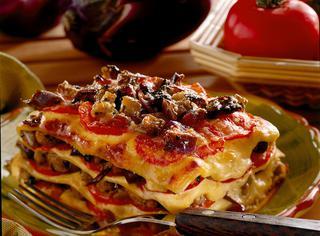 Lasagne con parmigiana di melanzane