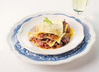 Ricetta Lasagnette con radicchio e speck
