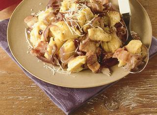 Ricetta Gnocchi di farina con pancetta
