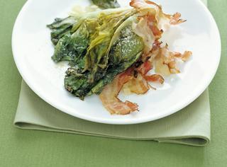 Scarola brasata con pancetta affumicata