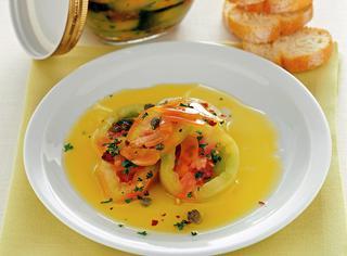 Ricetta Pomodori verdi sott'olio con la bottarga