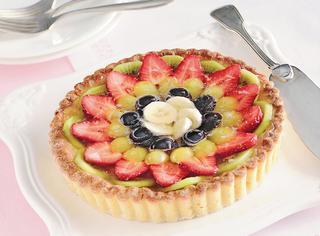Crostata di frutta in gelatina di spumante