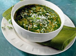 Ricetta Minestra di riso, bietole e spinaci
