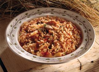 Ricetta Risotto ai funghi e pomodoro
