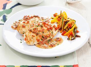 Ricetta Scaloppine di pollo alla mediterranea