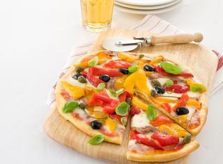 Ricetta Pizza di Kamut ® ai peperoni gialli e rossi